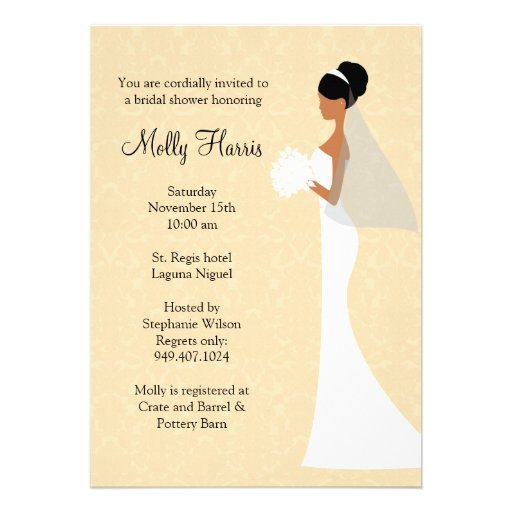 African American Bridal Shower Invitations is an amazing ideas you had to choose for invitation design
