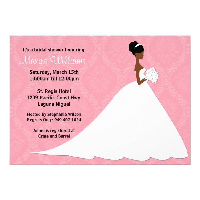 American Wedding Invitations: African American Wedding Shower Invitations, Announcements