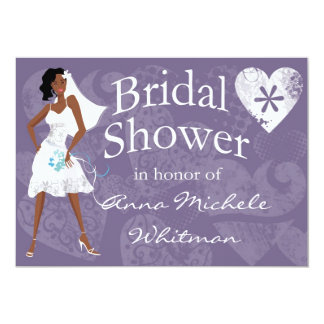 African American Bridal Shower Invitation