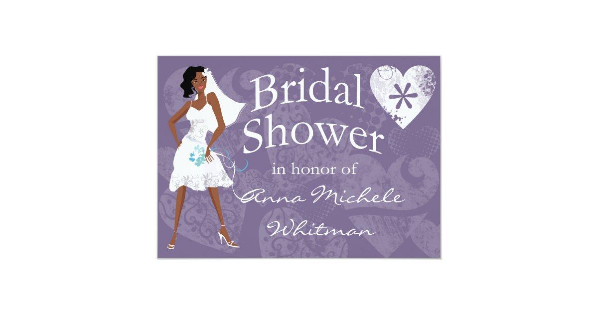 African American Bridal Shower Invitation Zazzle Com