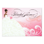 AFRICAN AMERICAN BRIDE Bridal Shower | baby pink Card