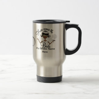 African American Bride  Coffee or TEA  TO GO Mug