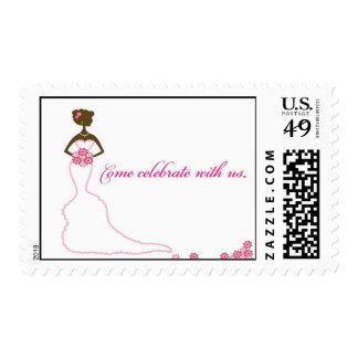 African American Bride Stamp