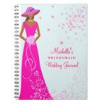 African American Bridesmaid Wedding Journal Notebooks