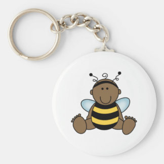 African American Bumble Bee Baby Keychains