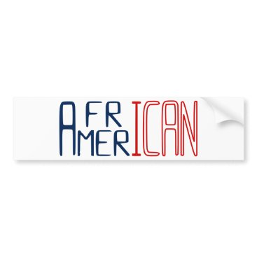USA Themed African American Bumper Sticker