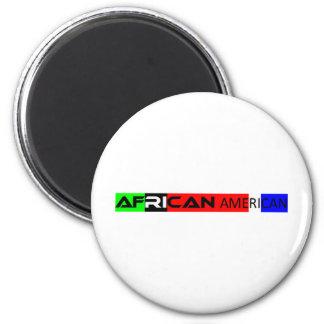 African American Bumper Sticker 2 Inch Round Magnet