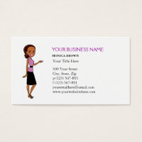African american business cards templates zazzle african american business card with illustration standard sized business cards colourmoves Images
