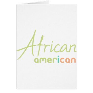 USA Themed African American Card
