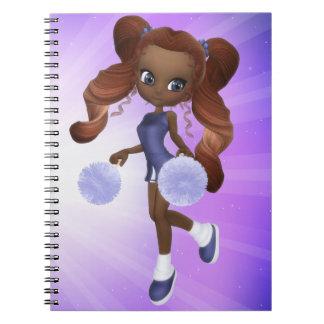 African American Cheerleader Notebook