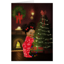 African American Child Christmas Card