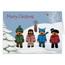 African American Children Christmas Card