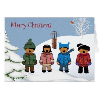African American Children Christmas Card