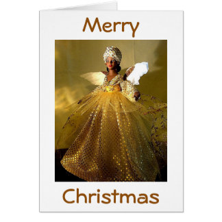 """AFRICAN-AMERICAN"" CHRISTMAS ANGEL CARD"