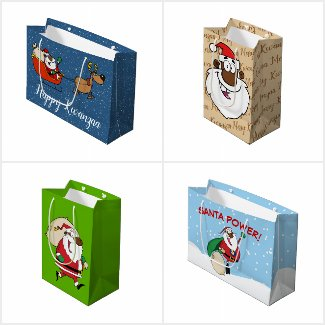 African American Christmas Gift Bags