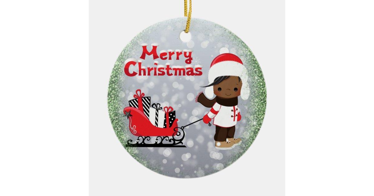 African American Christmas Ornament | Zazzle.com