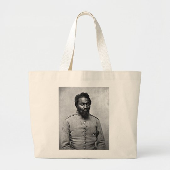 African American Civil War Soldier, 1861 Large Tote Bag
