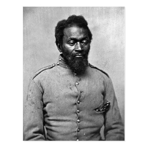 African American Civil War Soldier, 1861 Postcard