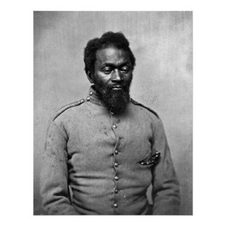 African American Civil War Soldier, 1861 Poster