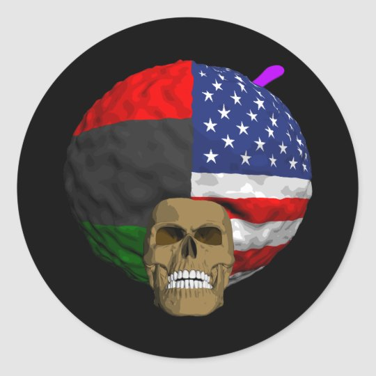 African American Classic Round Sticker