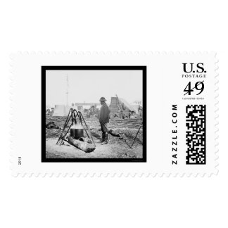 African American Cook in City Point, VA 1864 Stamps