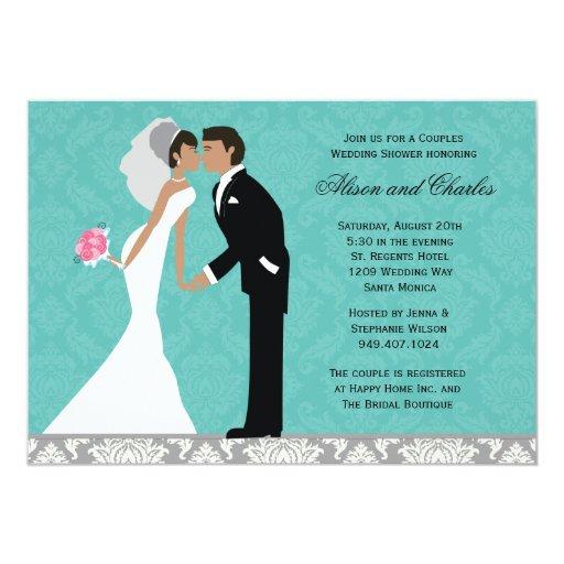 American Wedding Invitations: African American Couples Wedding Shower Invitation