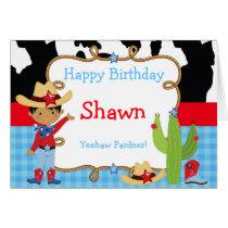 African American Cowboy Western Birthday Card