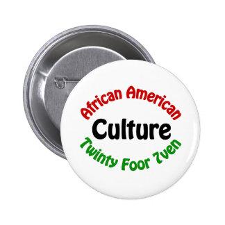 African American Culture Pinback Button