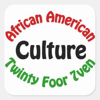 African American Culture Square Sticker