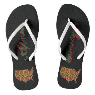 African American design Flip Flops