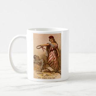 African American dying - Civil War image 1863 Coffee Mug
