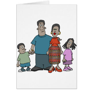 African American Family Card