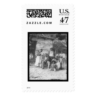 African American Family on Smith's Plantation 1862 Postage