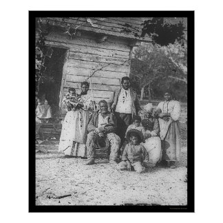 African American Family on Smith's Plantation 1862 Poster