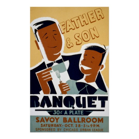 African American Father's Day & Son Banquet Poster