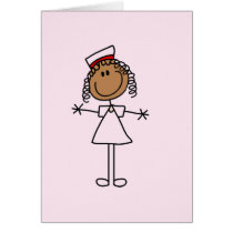 African American Female Stick Figure Gifts Card