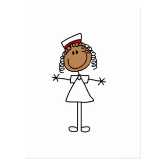 African American Female Stick Figure Gifts Post Card