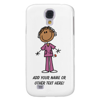 African American Female Stick Figure Nurse Samsung Galaxy S4 Case