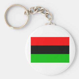 African American Flag Basic Round Button Keychain