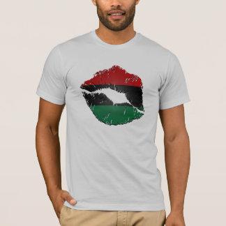 African American Flag Lips T-Shirt