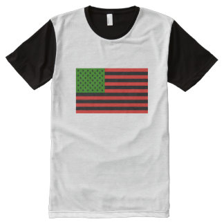 African American Flag - Red Black and Green All-Over-Print Shirt