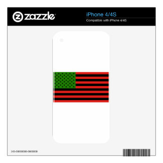 African American Flag - Red Black and Green Decal For The iPhone 4