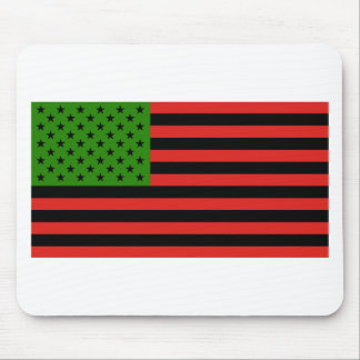 African American Flag - Red Black and Green Mouse Pad