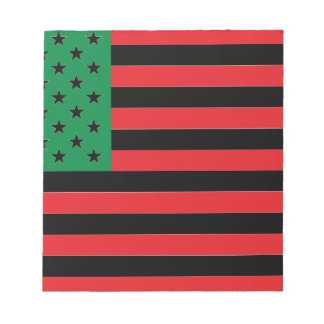 African American Flag - Red Black and Green Notepad