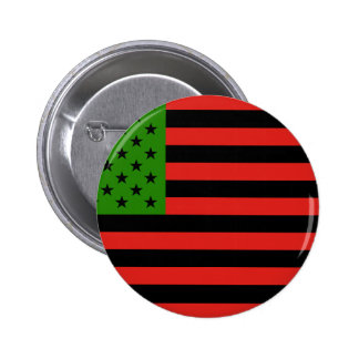 African American Flag - Red Black and Green Pinback Button