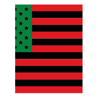 African American Flag - Red Black and Green Postcard