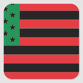 African American Flag - Red Black and Green Square Sticker