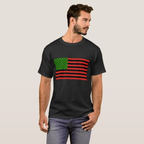 African American Flag _ Red Black and Green T_Shirt