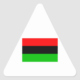 African American Flag Triangle Sticker