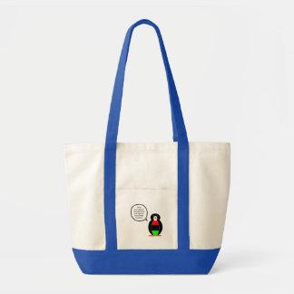 African American Flag Talking Penguin Tote Bag